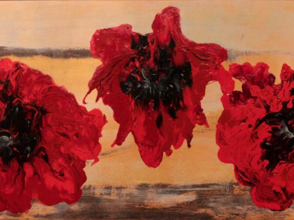 Adavncing Poppies - Sold